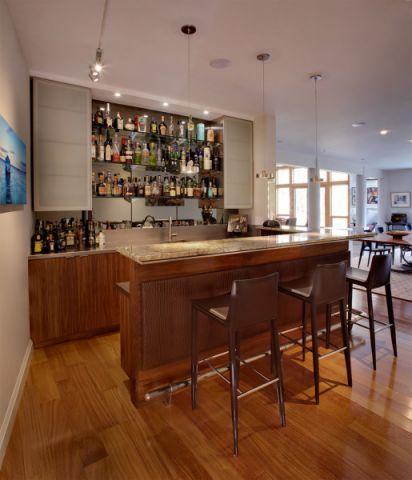 餐厅吧台现代风格装修图片