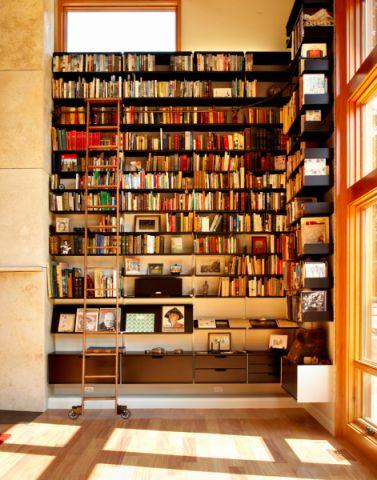 客厅书架现代风格效果图