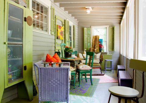 阳台地砖混搭风格装饰设计图片