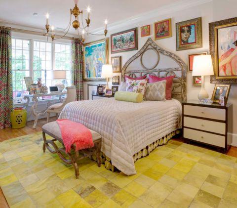 卧室混搭风格效果图大全2017图片_土拨鼠温暖自然卧室混搭风格装修设计效果图欣赏