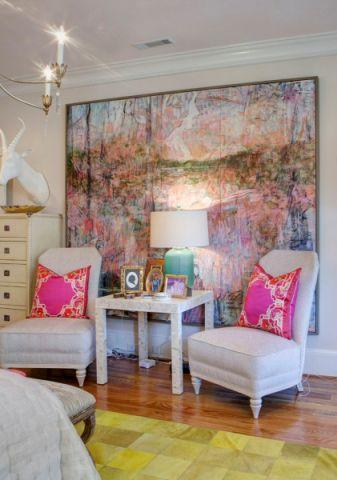 卧室地板砖混搭风格装饰图片