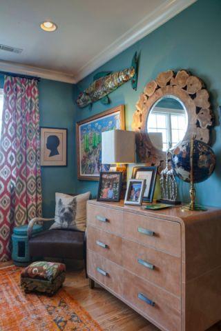 卧室照片墙混搭风格装修设计图片