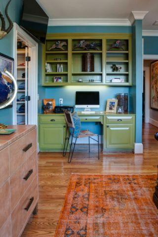 卧室书桌混搭风格装饰设计图片