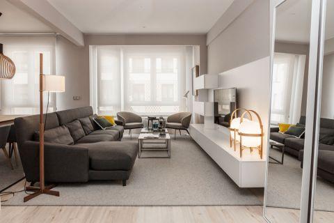 客厅现代风格效果图大全2017图片_土拨鼠优雅沉稳客厅现代风格装修设计效果图欣赏