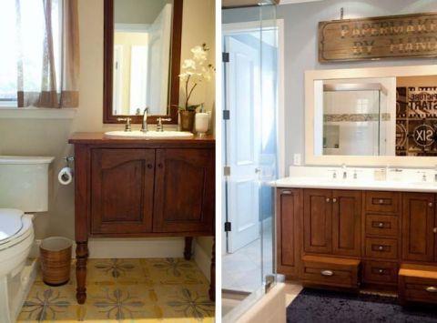 浴室洗漱台混搭风格装饰图片