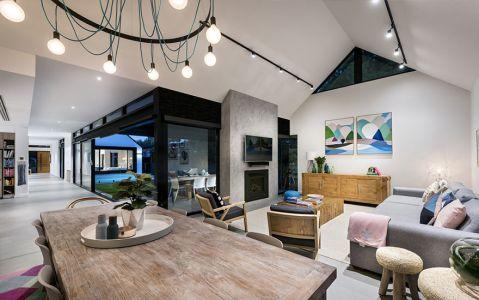现代风格四居室129平米装修图片