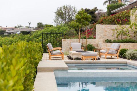 花园泳池地中海实景图