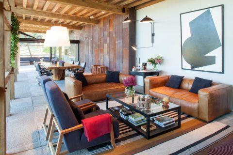 设计精巧咖啡色沙发室内装修设计