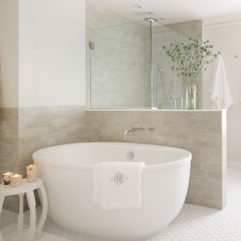 2019美式浴室设计图片 2019美式浴缸装修效果图大全