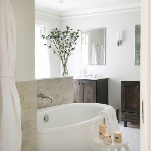 2019美式浴室设计图片 2019美式背景墙图片