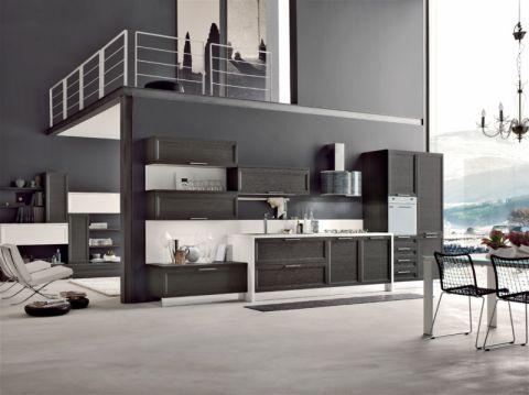 158平米三居室现代风格装修图片