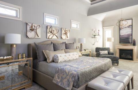 95平米三居室美式风格装修图片