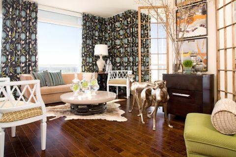 102平米三居室混搭风格装潢图片