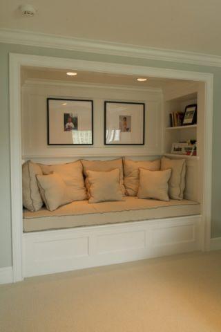 地下室榻榻米美式风格装潢设计图片