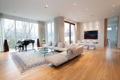 137平米四合院现代风格装饰设计图片