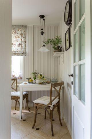 厨房餐桌美式风格装潢效果图
