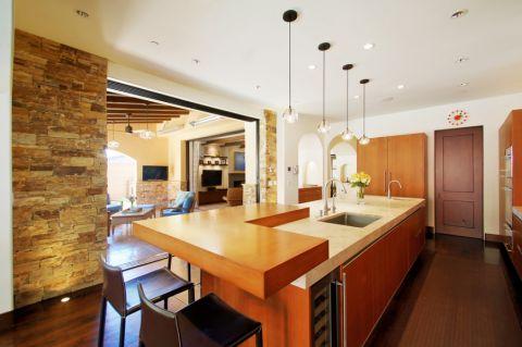厨房吧台地中海风格装饰图片