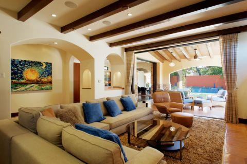 客厅沙发地中海风格效果图