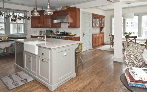 厨房吧台美式风格装饰效果图