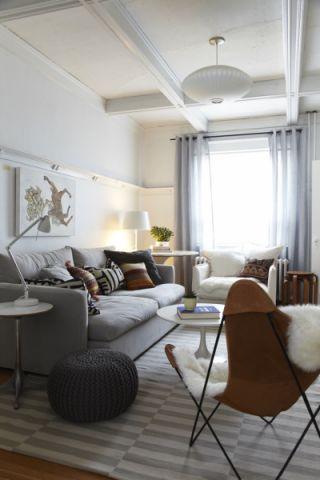 客厅窗帘北欧风格装潢设计图片
