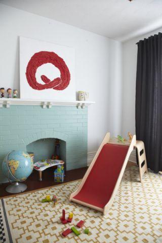 儿童房窗帘北欧风格装修效果图