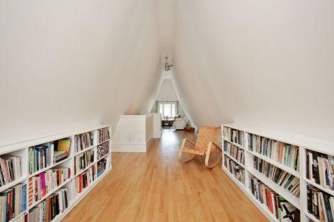 书房背景墙美式风格装修图片