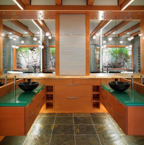 浴室背景墙混搭风格装修设计图片