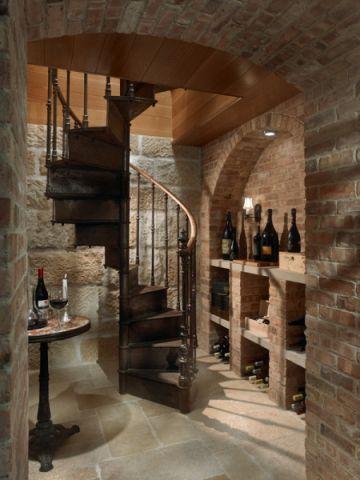 地下室酒窖地中海风格装修设计图片