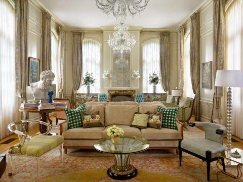客厅窗帘地中海风格装修效果图