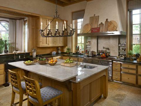 厨房吧台地中海风格装潢效果图