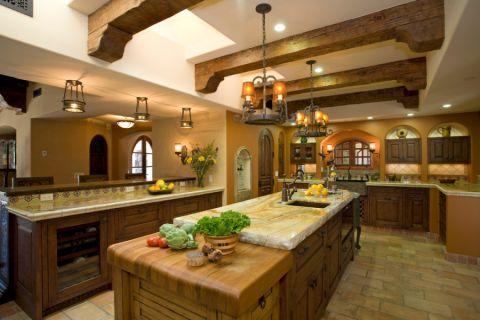 厨房橱柜地中海风格装饰图片