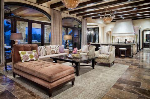客厅茶几地中海风格装潢图片