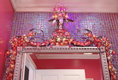 浴室背景墙混搭风格装潢效果图