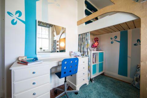 儿童房书桌现代风格装潢设计图片