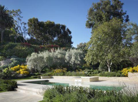 花园地板砖地中海风格效果图