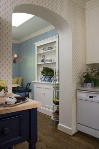 厨房博古架美式风格装潢设计图片