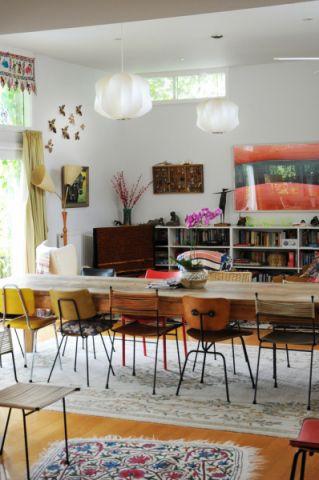 餐厅窗帘混搭风格装潢设计图片