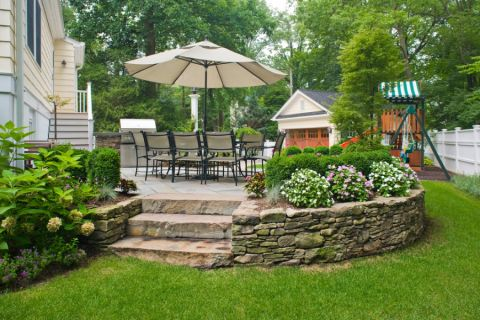 花园地板砖美式风格装潢效果图