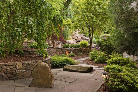 花园走廊美式风格装修图片