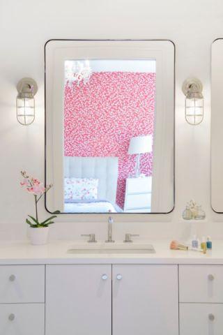 浴室背景墙北欧风格效果图