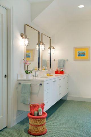 浴室洗漱台北欧风格装潢图片