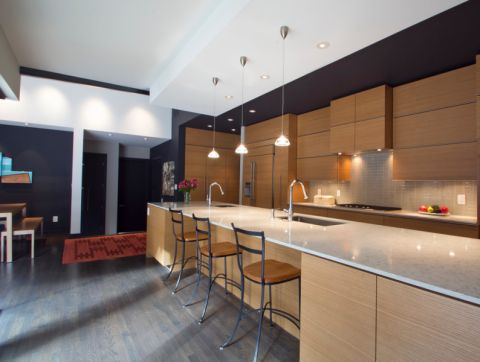 124平米四居室现代风格装修图片