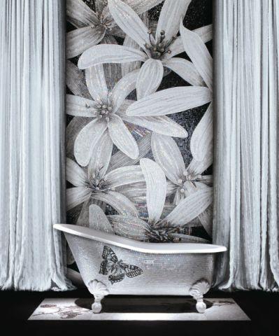 浴室窗帘混搭风格装修图片