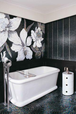 浴室浴缸混搭风格装潢图片