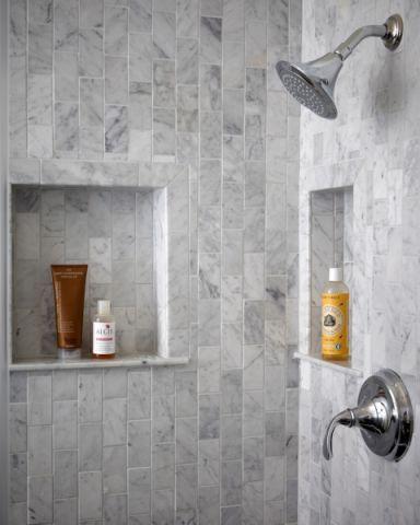 浴室背景墙美式风格效果图