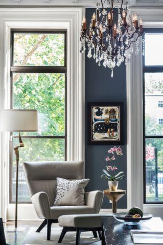 客厅灯具混搭风格装饰图片