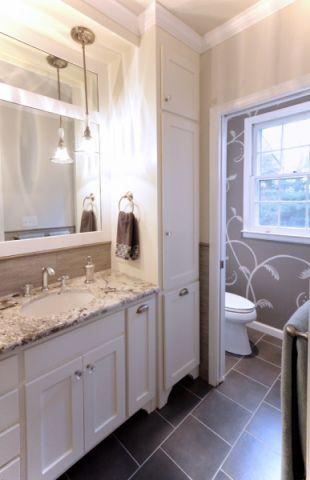 浴室地板砖美式风格装潢设计图片