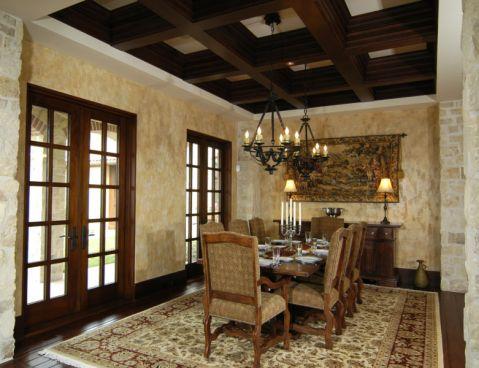 餐厅吊顶地中海风格装修设计图片