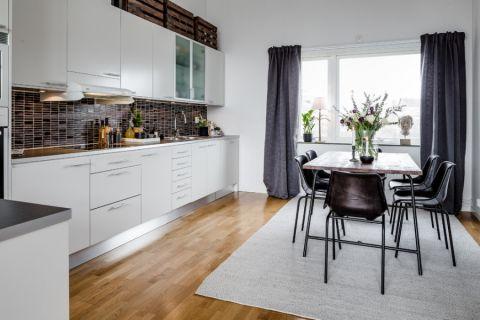 厨房窗帘现代风格装潢图片