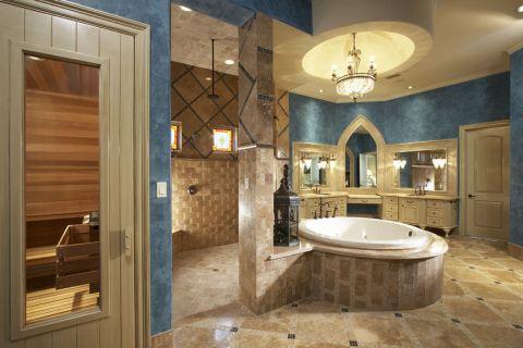 浴室地中海风格效果图大全2017图片_土拨鼠大气写意浴室地中海风格装修设计效果图欣赏